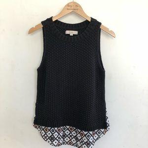 Ann Taylor LOFT sleeveless sweater top sz M